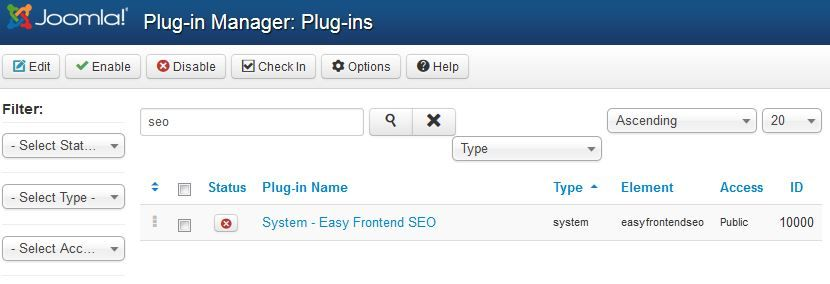 Easy-frontend-seo-plugin-manager