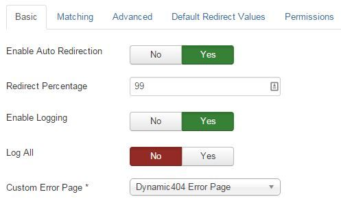 dynamic 404 options