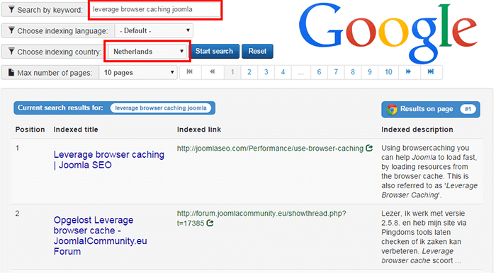 google indexing feature