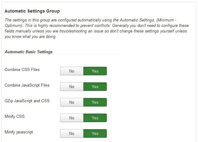 automatic group settings (manual settings)