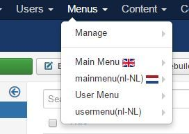 multi language menu setup