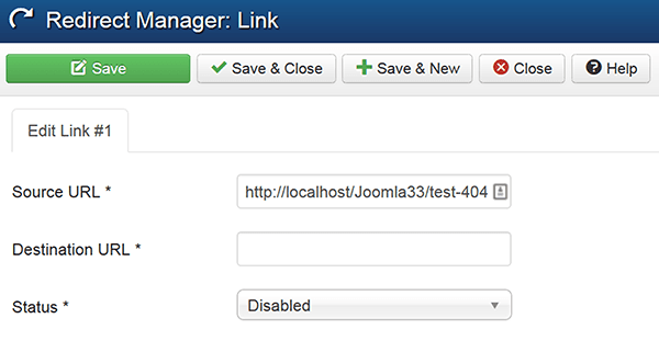 redirect component in Joomla
