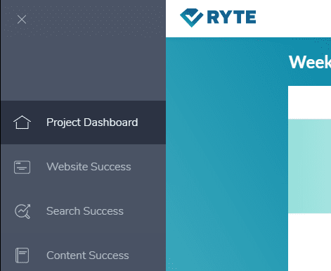 ryte dashboard options