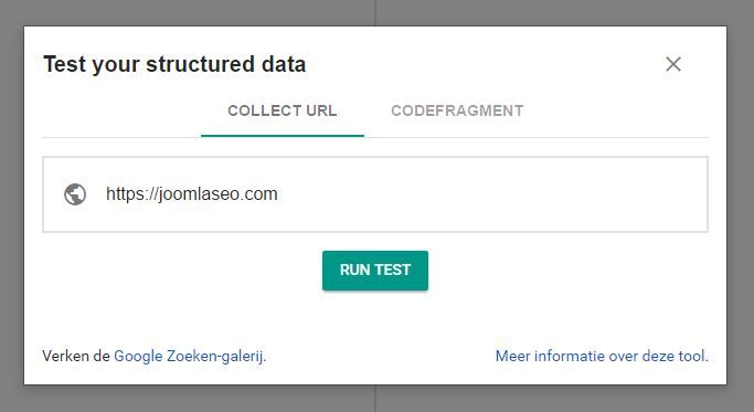 structured data test