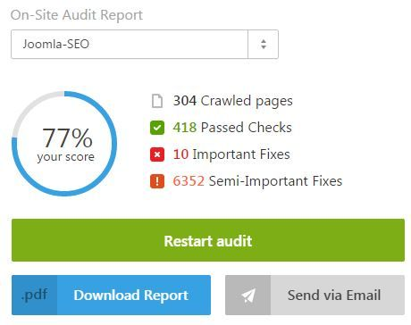 seranking website audit